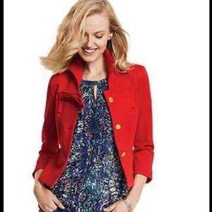 Cabi Red Beau Jacket Blazer Sz 4